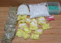 Lot of Assorted Opaque Plastic Pony Beads & Stars for Kids'