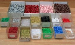 Lot of Plastic Beads Pearls Sports Balls for Jewelry Making