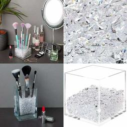 Makeup Brush Holder Beads Luxury Clear Acrylic Diamonds For