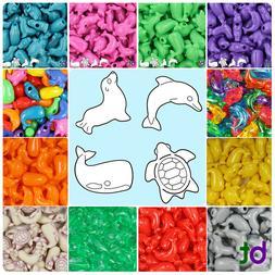 BeadTin Marine Life Shaped Plastic Pony Beads  - Style choic