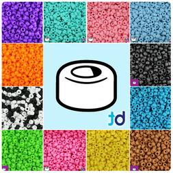BeadTin Matte 6.5mm Mini Barrel Pony Beads  - Color choice