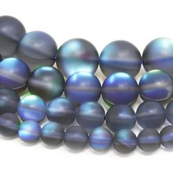 Matte Grey Iridescent Moonstone Beads Gray Frosted Round 6mm