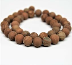 Matte Wood Grain Jasper Gemstone Round Beads For Bracelet Ne