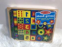 Melissa Doug Toy Wooden Beads Educational New Age 3+ Numbers