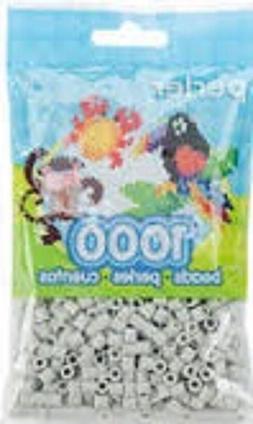Mini Perler Beads 1,000/Pkg-Light Grey