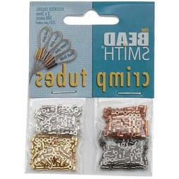 Beadsmith 4 Color Mix Pack Plated Crimp Beads 2mm