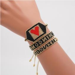 MIYUKI Beads Bracelet CHINGONA-Power Letter Pulseras Mujer M