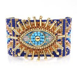 MIYUKI Bracelet Turkish Lucky Evil Eye Bracelets Handmade Lo