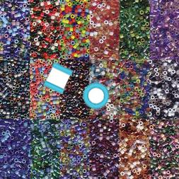Miyuki Delica 11/0 7 grams 1200 Glass Seed Beads Mix 28 colo
