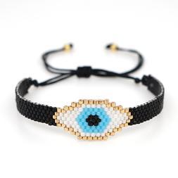 MIYUKI Evil Eye Bracelet Cuff Bracelets Handmade Loom Beads