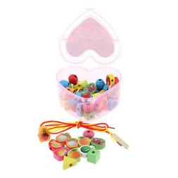 Toddlers Sorting Game Lacing Beads Toy for Preschool Kids Ea