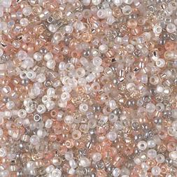 Moonstone Miyuki Mix Round Seed Beads 10 Grams Sizes 11/0 &