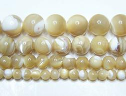 Mother of Pearl Natural AAA 4mm-6mm-8mm-10mm Real Stone 15.5
