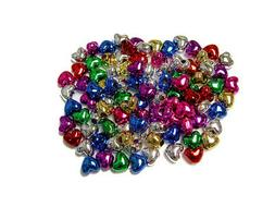 Multi Metallic colors Heart shaped Pony Beads 100pc for camp