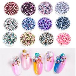 50PCS Imitation Pearl Beads Decors Without Holes DIY Crafts
