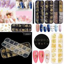 Nail Micro Caviar Beads 3D Nails Supply Studs GOLD Art Decor