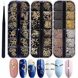 Nail Micro Caviar Beads 3D Nails Supply Studs Gold Nail Art