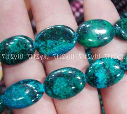 Natural 13x18mm Green Azurite Chrysocolla Gemstone Oval Loos