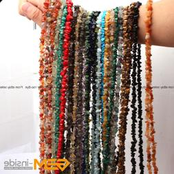 Natural 7-8mm Freeform Gemstone Chips Beads For Jewelry Maki