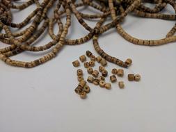 Natural Coconut Column Beads 3x1.5-5mm, Hole 1mm  - Qty 60 b