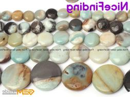 Natural Coin Mix Color Amazonite Gemstone Beads For Jewelry