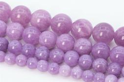 Natural Quartz Bead Kunzite Purple Color Grade AAA Round Loo