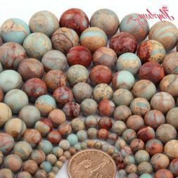 Natural Round Multicolor Shoushan Stone Beads for Women Men