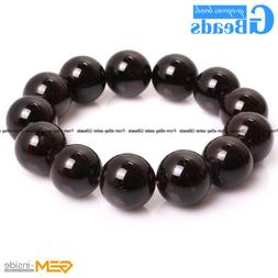Natural Stone Garnet Beaded Stretchy Bracelet For Women Men