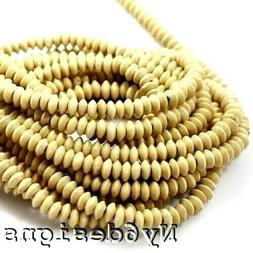 """Natural Wood Rondelle 2mm Big Hole Bead 15""""a 10x4mm Bicone F"""