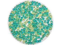 Neon Yellow and Teal Green 2-tone Czech Fire Polished Beads,