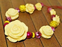 New 21 pc set of Czech Glass & Resin Rose Beads - Lilah Ann
