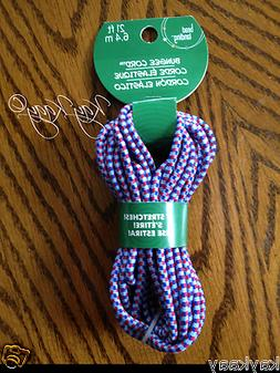 NEW Bead Landing 21ft Stretchable BUNGEE CORD Red & Blue Jew