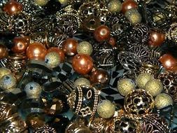 NEW Jesse James Beads 20/pc FREE Shipping Chocolate Mocha MI