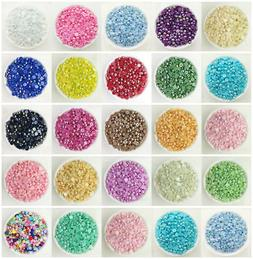 NEW DIY 2/4/6/8/10/12MM Half Pearl Bead Flat Back Scrapbook