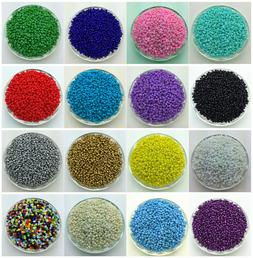 NEW DIY 2MM 3MM 4MM Size Glass With silve Seed Spacer beads