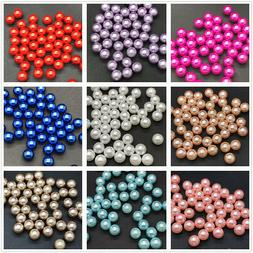 New Hot 4mm 6mm 8mm 10mm No Hole Round Pearl Loose Acrylic B