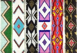 new loom native style inspired handmade glass