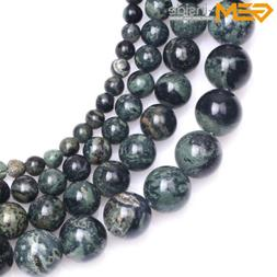 New Natural Round Dark Blue Rhyolite Kambaba Jasper Beads fo