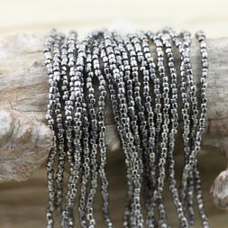 NEW!!! RARE!!! 9/0 3Cut Platinum Plated Czech seed beads - 1