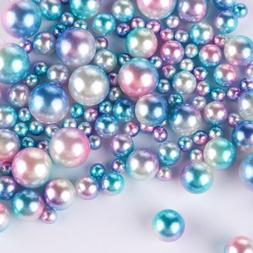 No Holes DIY Craft Loose Bead Imitation Pearls Clothing Supp