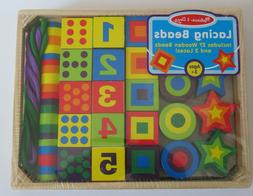 NUMBERS &  SHAPES LACING BEADS Set # 3775 ~ Melissa & and Do