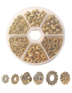 ONE BOX of 300PCS Antiqued Gold Metal Bali Daisy Spacer Bead