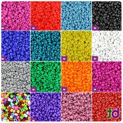 BeadTin Opaque 6.5mm Mini Barrel Pony Beads  - Color choice