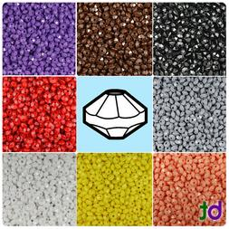 BeadTin Opaque 6mm Faceted Rondelle Craft Beads  - Color cho