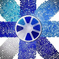 Over 2000 Czech Blue Sea Glass Seed Beads 6/0 For Jewelry Ma
