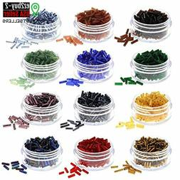 Over 3000 Glass Bugle Beads for Jewelry Making for Adults in