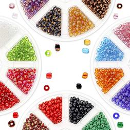 Over 3000 PCS 6/0 Glass Seed Beads for Jewelry Making Adults