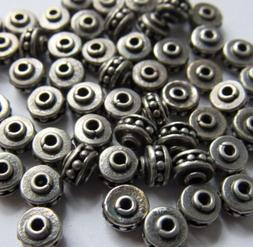 Oxidized Bali Sterling Silver Granulated Wheel Spacer Rondel