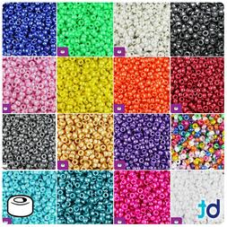 BeadTin Pearl 6.5mm Mini Barrel Pony Beads  - Color choice