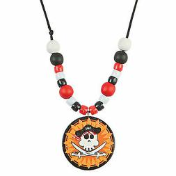Pirate Beaded Necklace Craft Kit - Craft Kits - 12 Pieces
